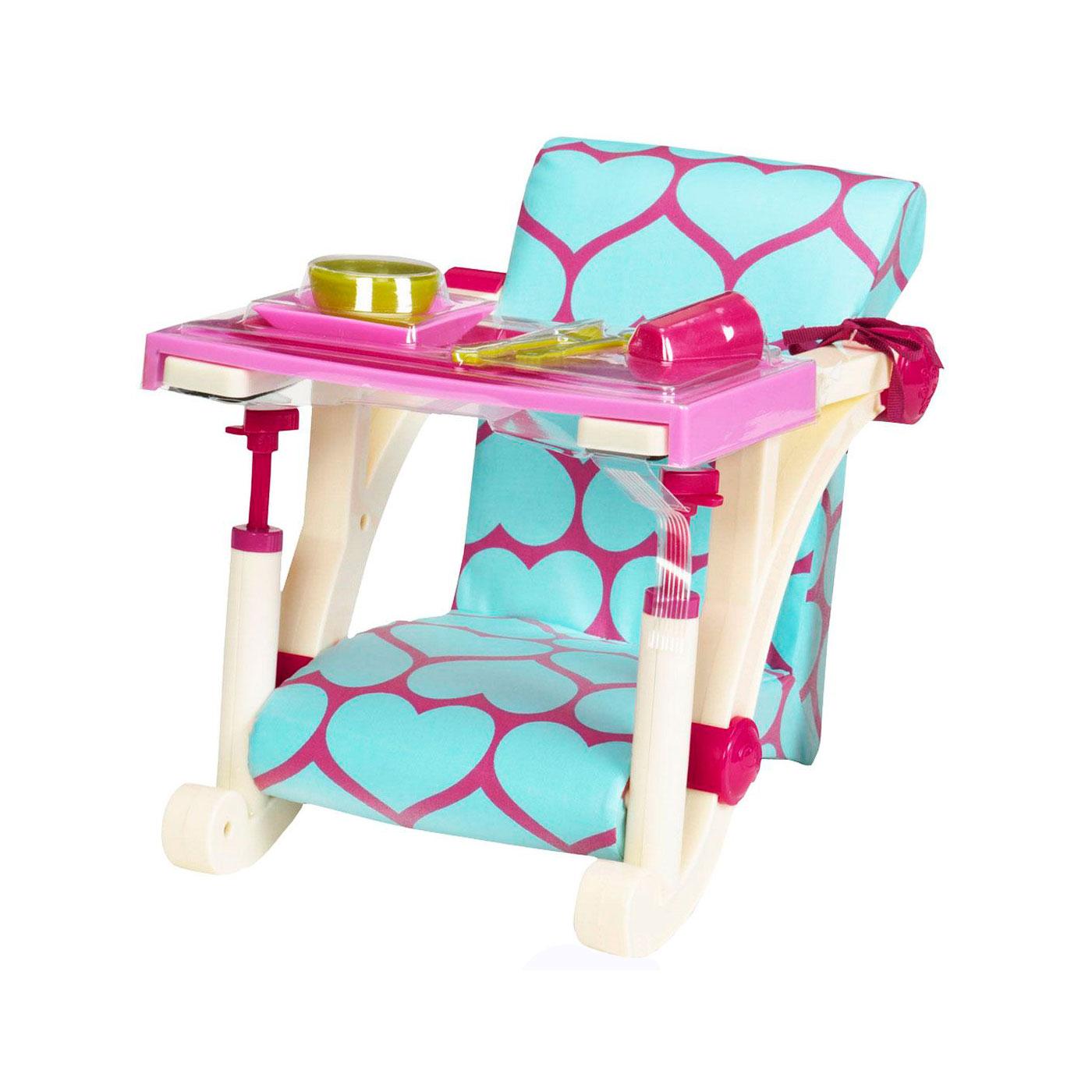 Игрушка Our Generation Стульчик для кормления с аксессуарами и креплением к столу для  куклы<br>