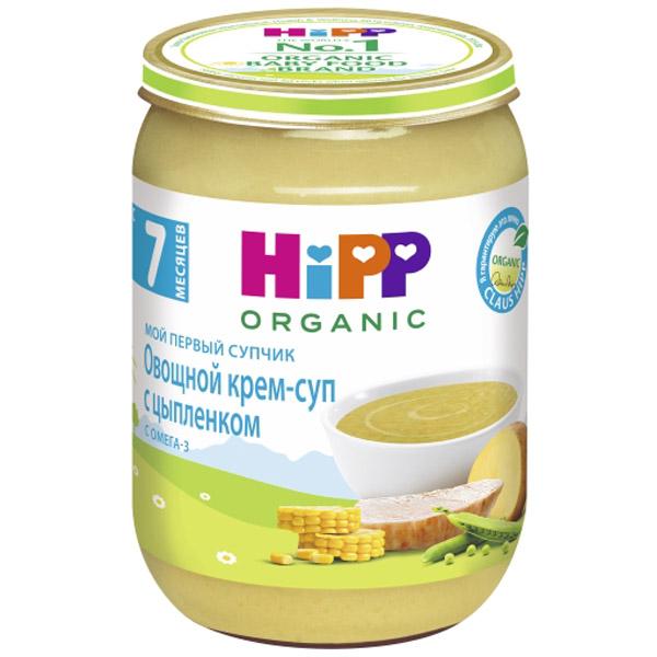Пюре Hipp Мой первый супчик 190 гр Овощной с цыпленком (с 7 мес)<br>