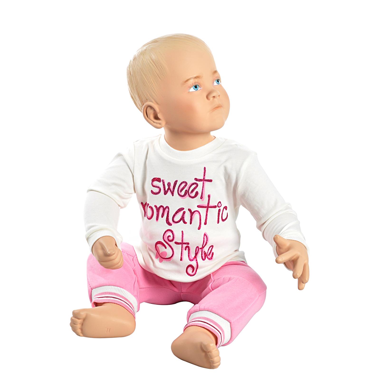 Комплект одежды Estella для девочки, брюки, толстовка, кофта, цвет - Розовый Размер 68