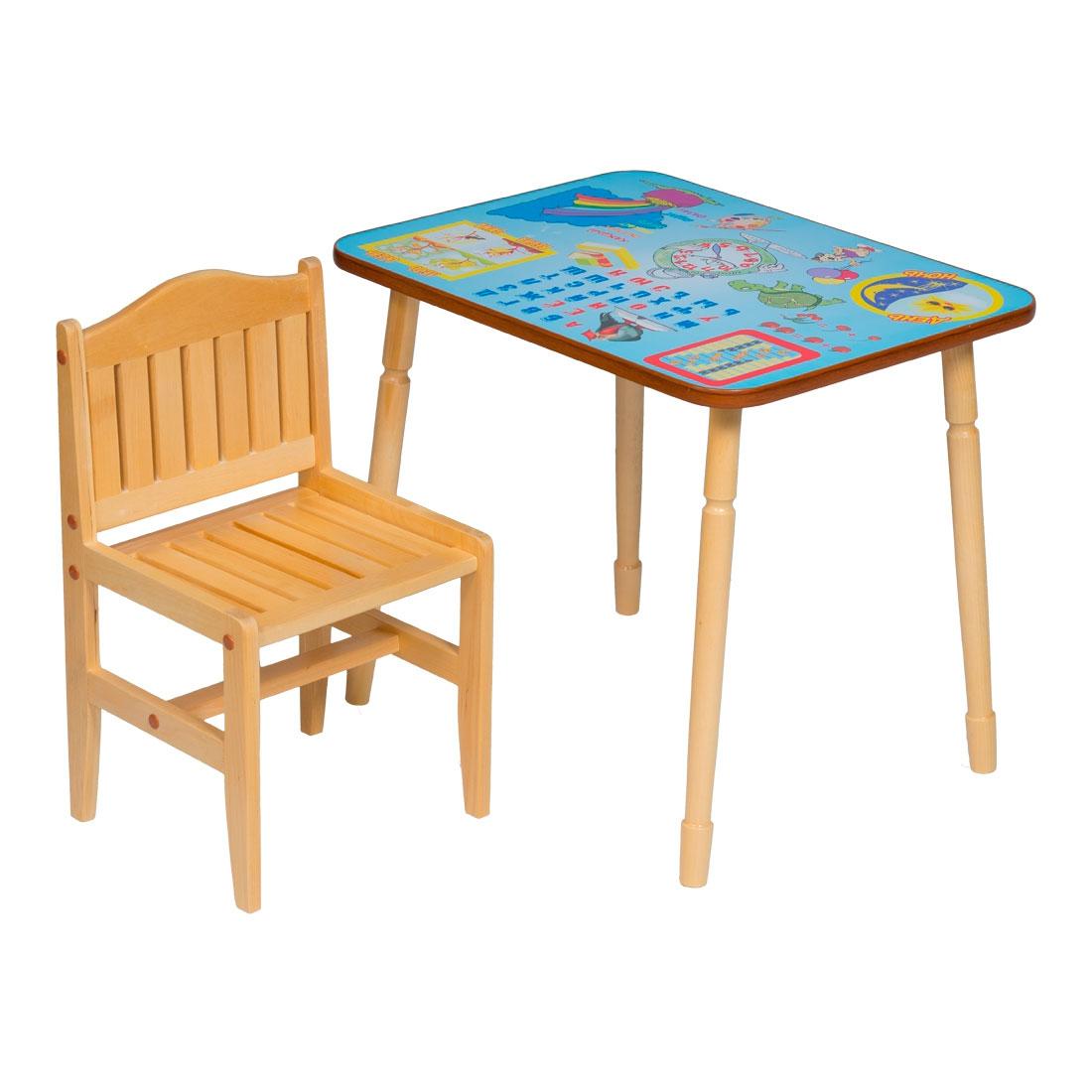 Набор мебели Папа Карло стол и стул Синий<br>