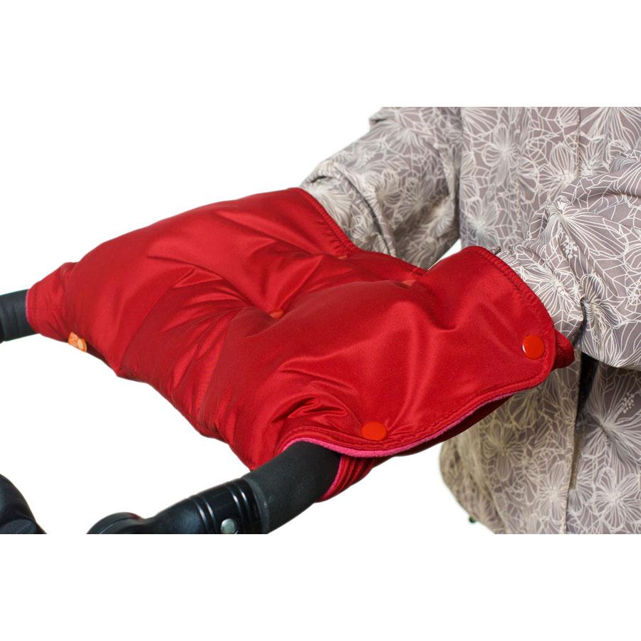 Муфта для коляски Чудо-Чадо флисовая (кнопки) Вишневый<br>