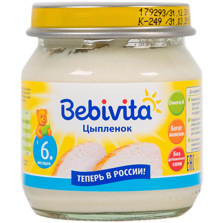 Пюре Bebivita мясное 100 гр Цыпленок (с 6 мес)<br>