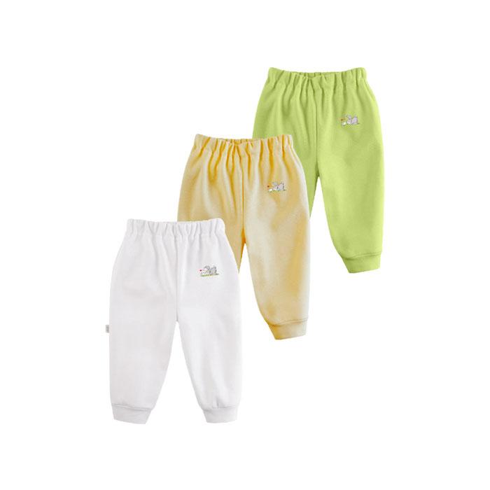 Комплект Наша Мама Be happy штанишки (3 шт) рост 62 (белый, желтый, салатовый)<br>
