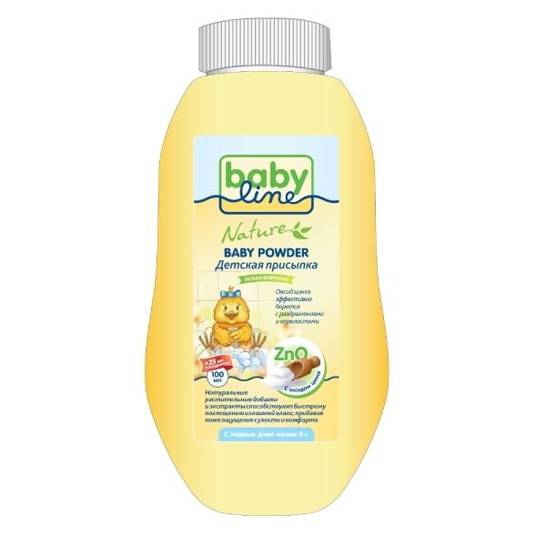 Присыпка Babyline Nature с оксидом цинка 100 гр + 25% в подарок<br>