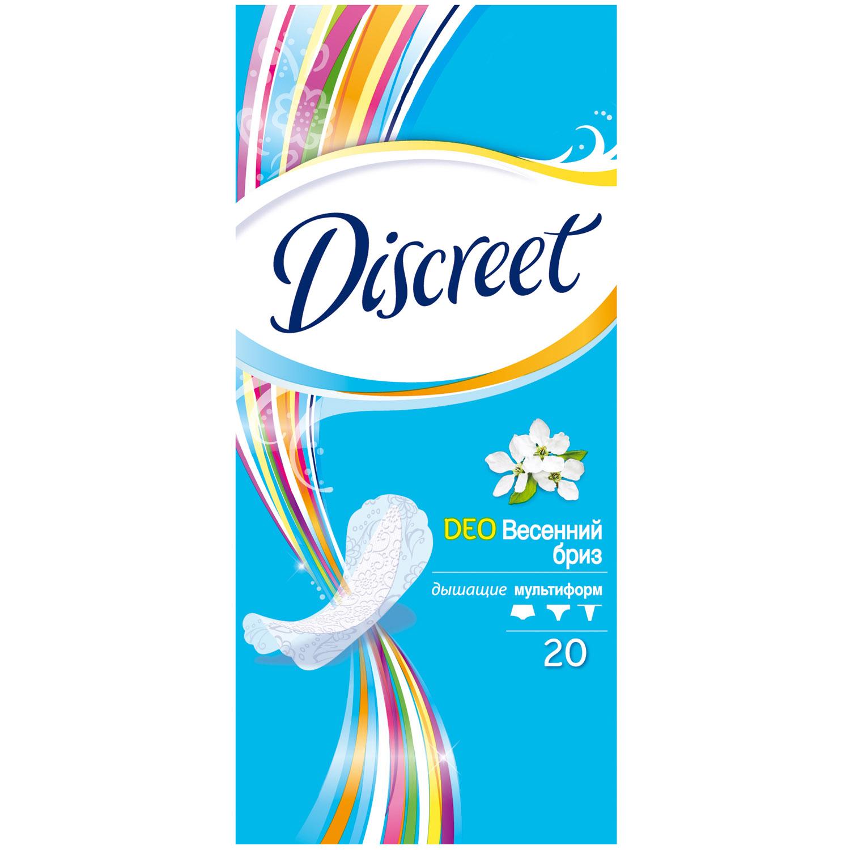 Прокладки гигиенические Discreet ежедневные Deo Spring Breeze Multiform Single 20шт<br>