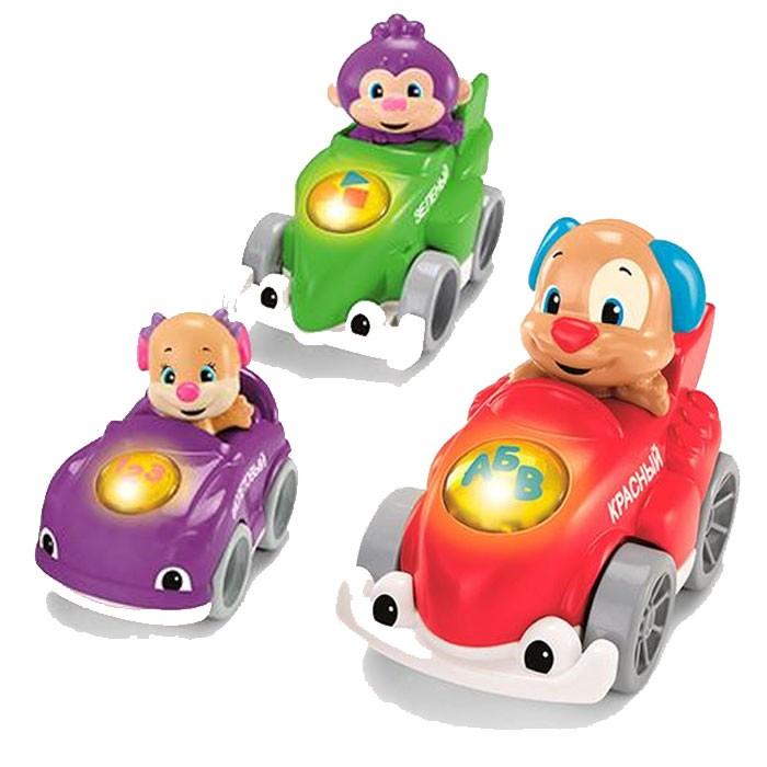 Игрушка Fisher Price Друзья на гоночных машинках в ассортименте<br>
