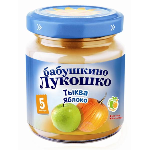 Пюре Бабушкино лукошко овощное 100 гр Тыква с яблоком (с 5 мес)<br>