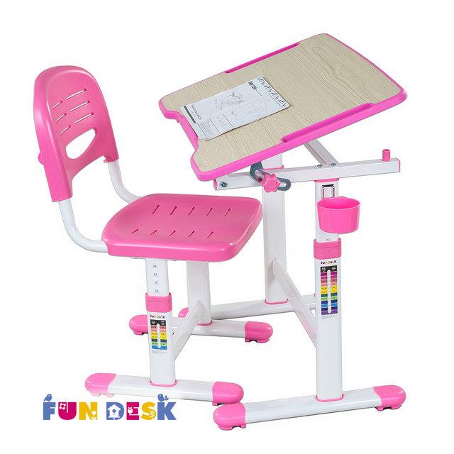 Набор мебели FunDesk PICCOLINO II парта и стул Pink<br>
