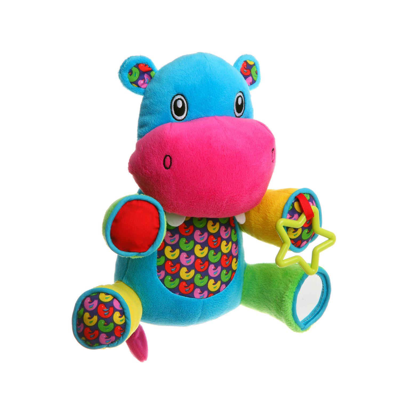 Мягкая развивающая игрушка Bondibon Бегемот 22.5 см<br>