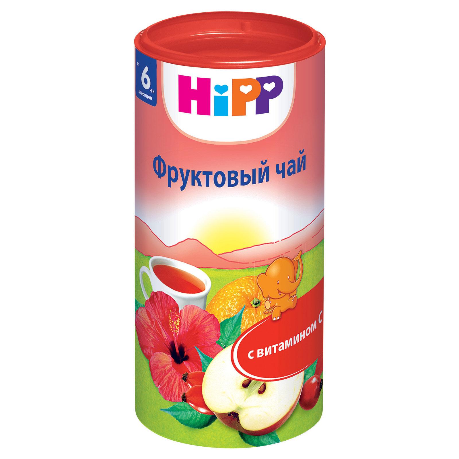 Чай детский Hipp быстрорастворимый 200 гр Фрукты (с 6 мес)<br>