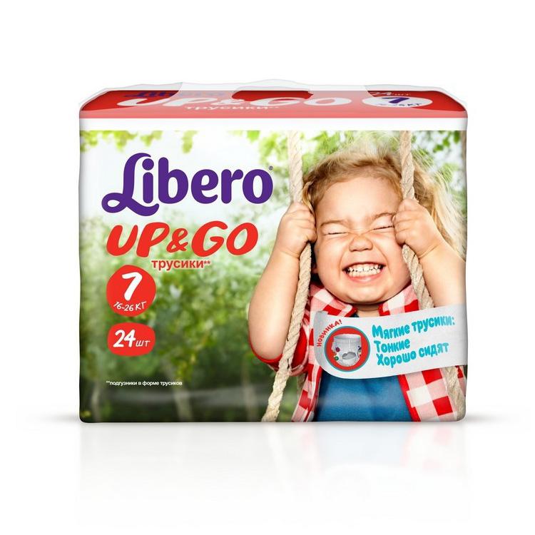 Трусики Libero Up &amp;amp; Go Extra Large+ 16-26 кг (24 шт.) Размер 7<br>