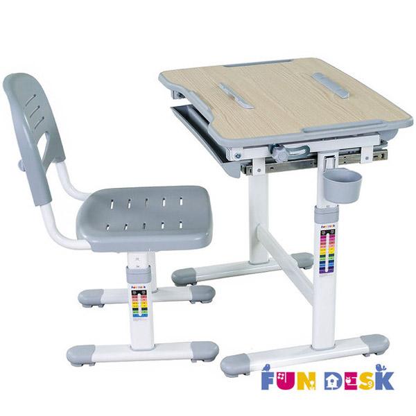 Набор мебели FunDesk Bambino парта и стул Grey<br>