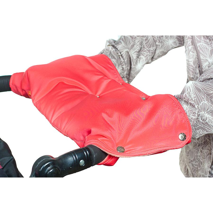 Муфта для коляски Чудо-Чадо флисовая (кнопки) Коралловый<br>