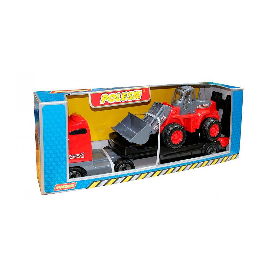 Автомобиль-трейлер Wader Трактор-погрузчик в коробке 9616<br>