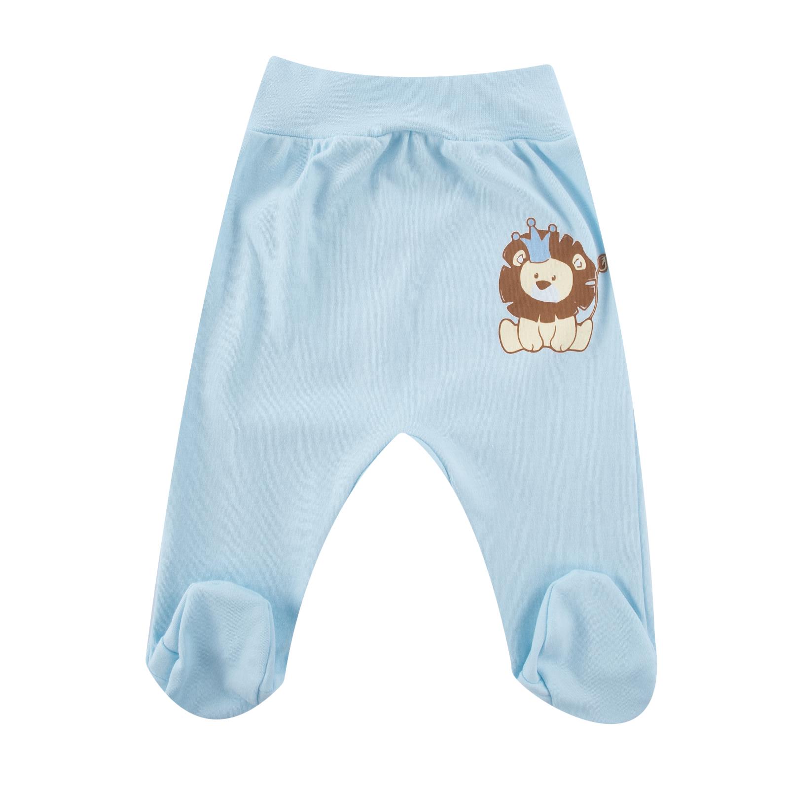 Ползунки КОТМАРКОТ для мальчика, цвет голубой 6-9 мес (размер 74)