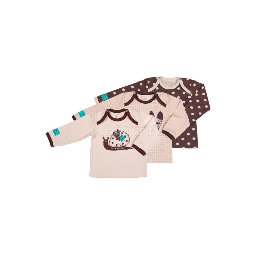Комплект кофточка Lucky Child Улитки (3 шт) рост 74<br>
