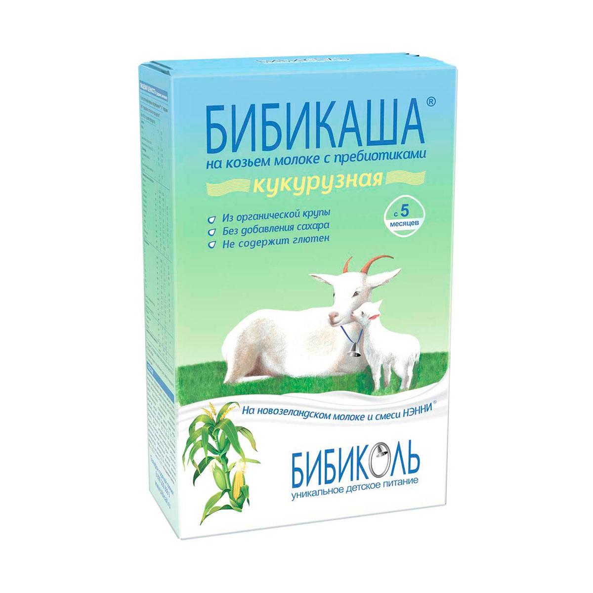 Каша Бибикаша на козьем молоке 200 гр Кукурузная (с 5 мес) (Бибиколь)
