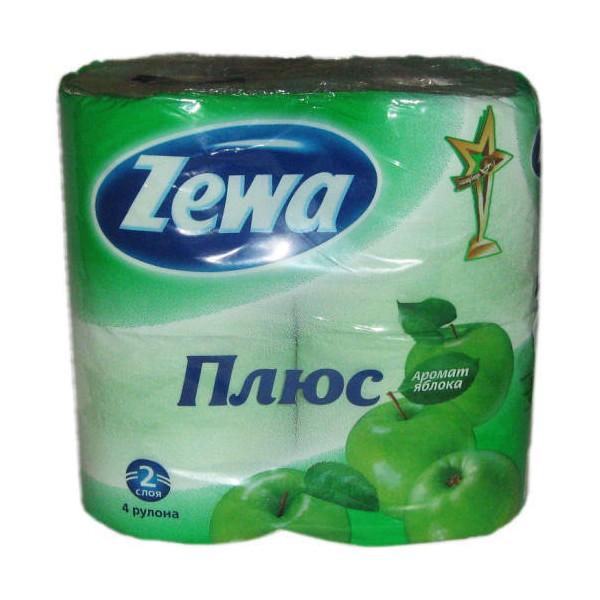 Туалетная бумага Zewa с запахом яблока (2 слоя) 4шт