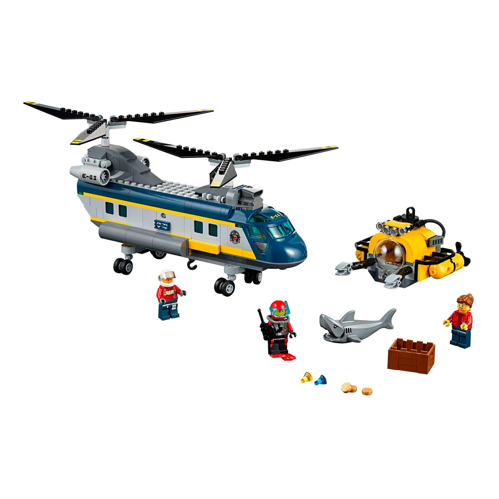 Конструктор LEGO City 60093 Вертолет исследователей моря<br>