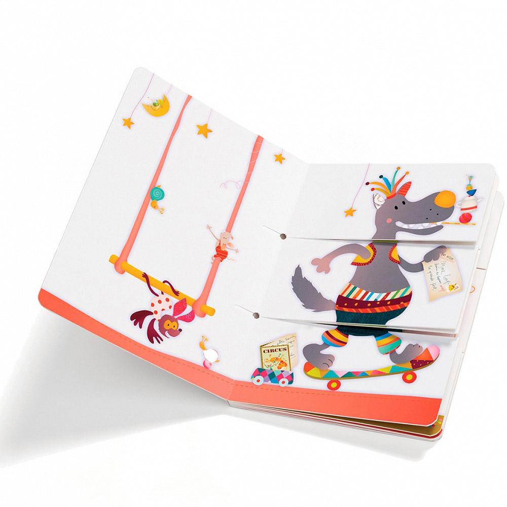 Книга развивающая Lilliputiens Цирк Шапито<br>