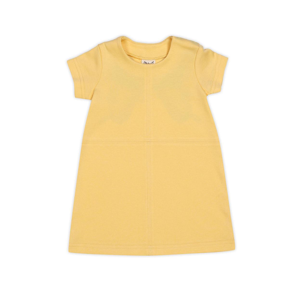 Платье Ёмаё Бабочки (12-201) рост 68 желтый<br>
