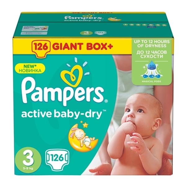 Подгузники Pampers Active Baby Midi 5-9 кг (126 шт) Размер 3<br>