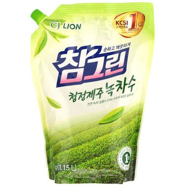 Средство CJ Lion для мытья посуды, овощей и фруктов Chamgreen Зеленый чай (запасной блок) 860 мл
