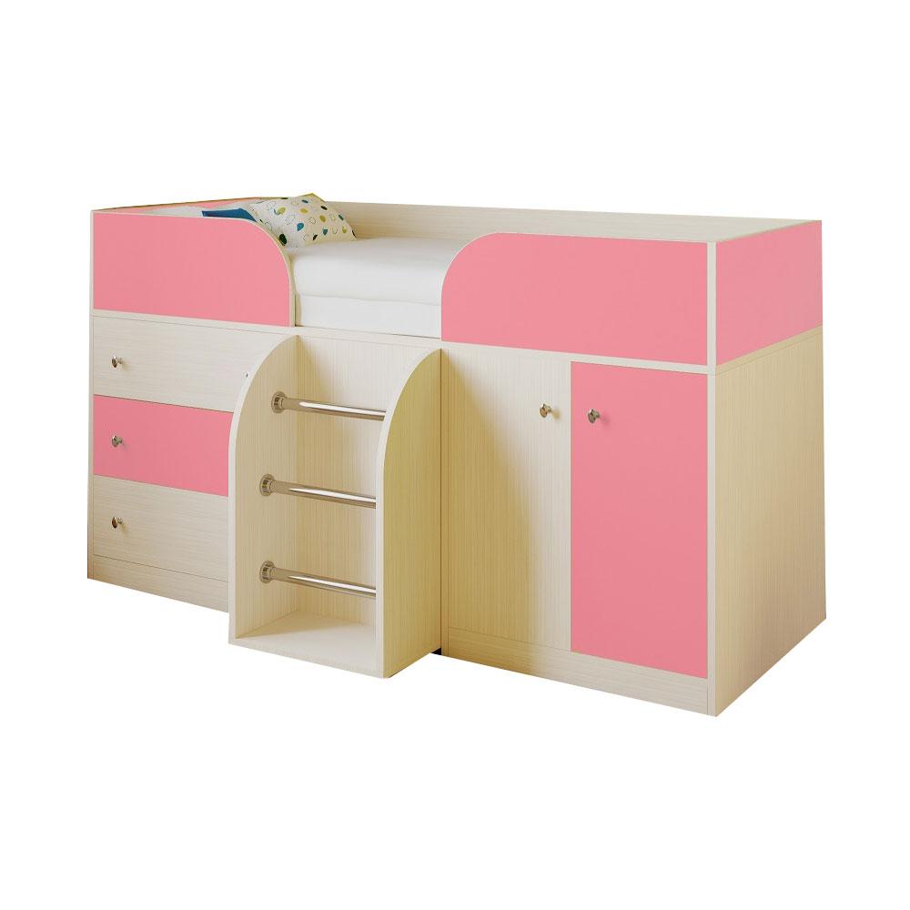 Набор мебели РВ-Мебель Астра 5 Дуб молочный/Розовый<br>