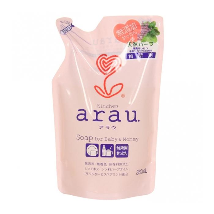 Жидкое средство Saraya Arau для мытья посуды 380 мл. (запасной блок) (Saraya ( Япония ))