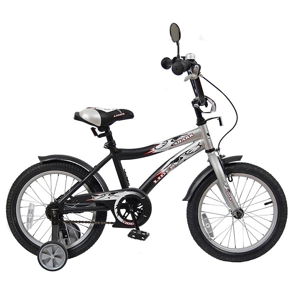 Велосипед двухколесный Velolider 16 Lider Shark 16A-1687 Серый/Черный<br>