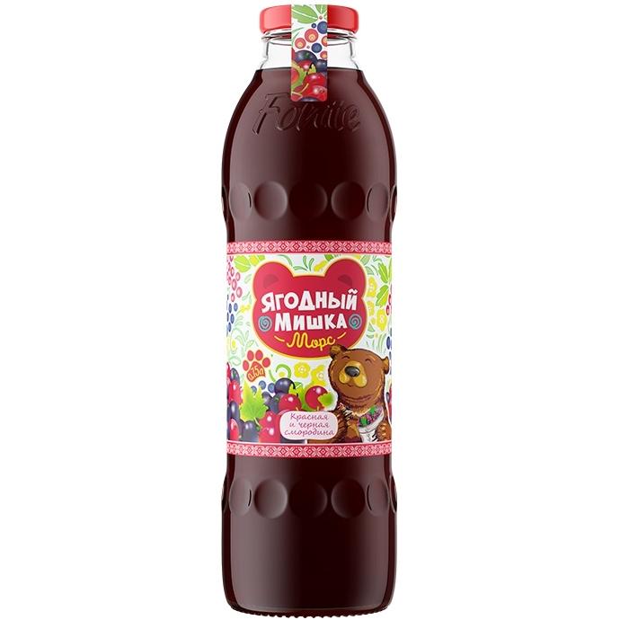 Морс Ягодный Мишка с натуральным соком 0,75л черная и красная смородина (с 3 лет)<br>