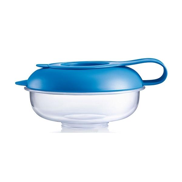 Контейнер MAM для еды Для еды (с 6 мес) с синей крышкой<br>