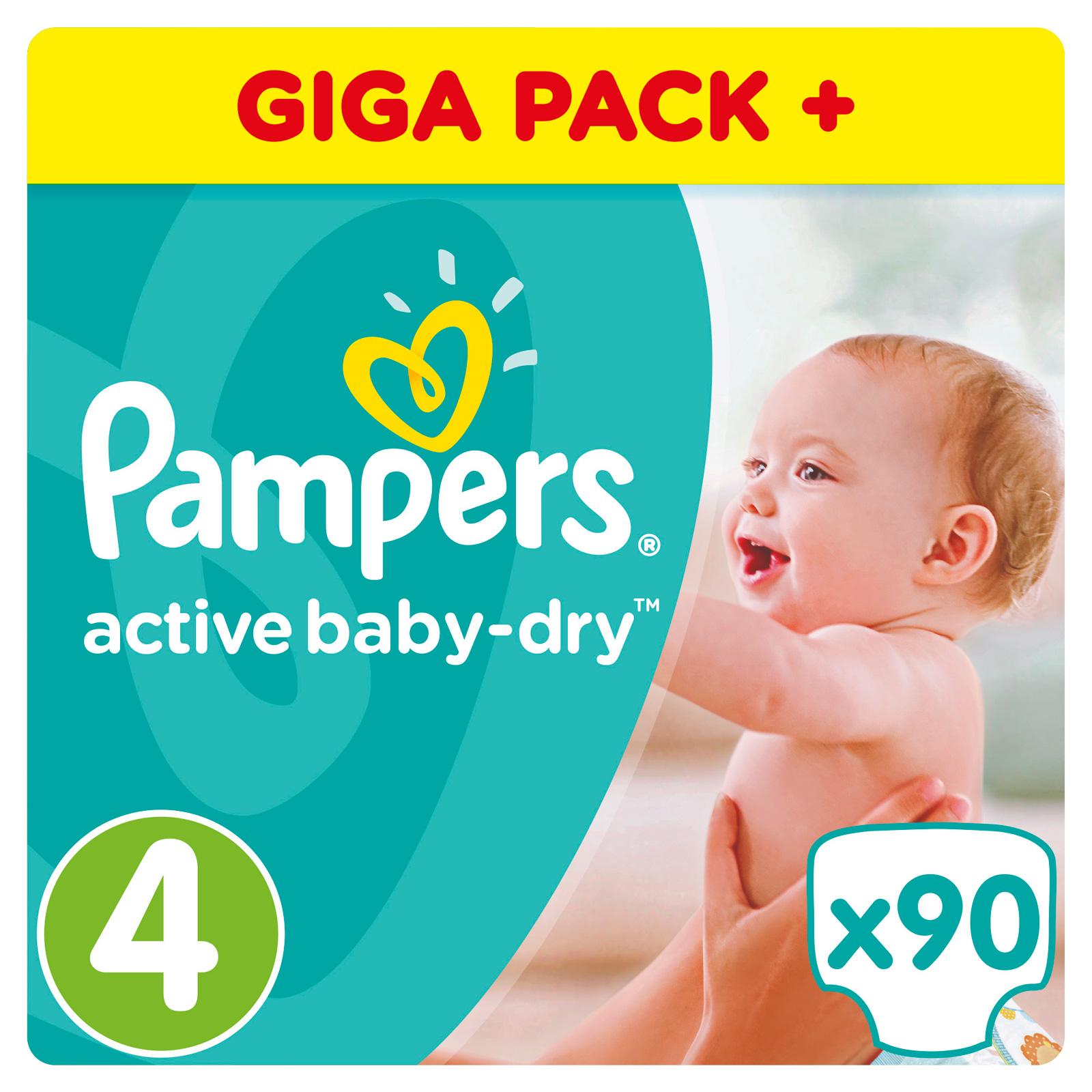 Подгузники Pampers Active Baby Maxi 8-14 кг (90 шт) Размер 4<br>