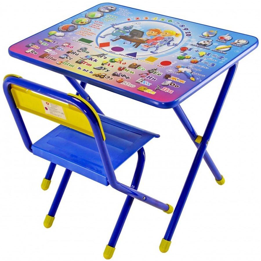 Набор мебели стол и стул Дэми №1 Электроник Синий<br>