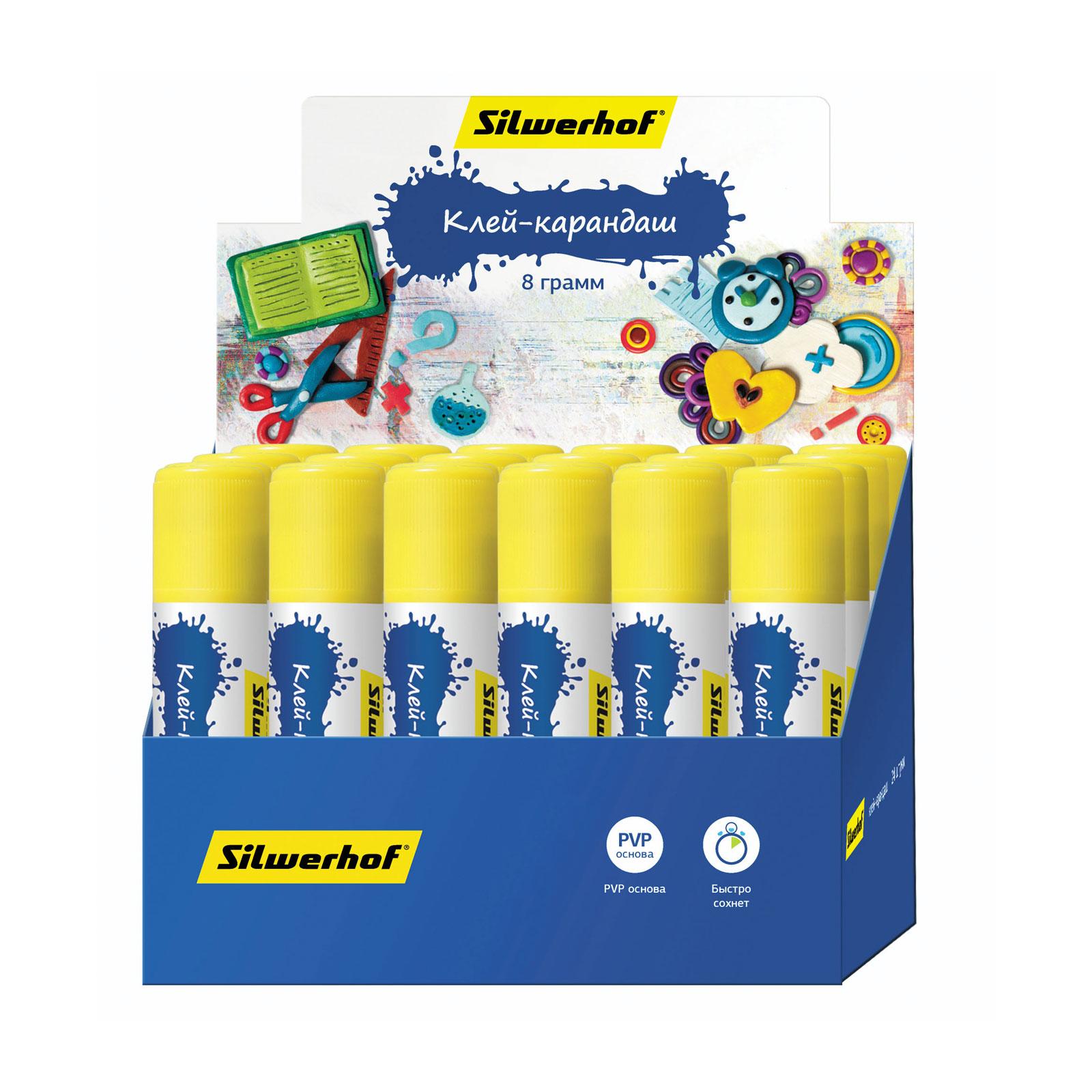 Клей-карандаш Silwerhof 15 гр Пластилиновая коллекция