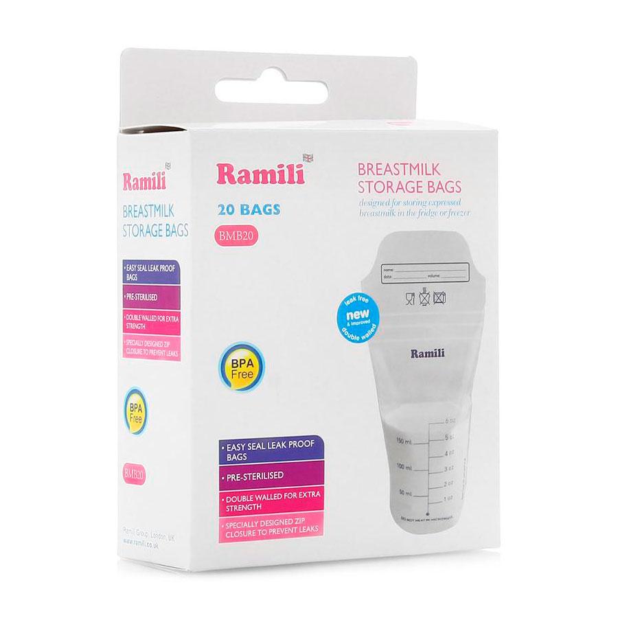 Пакеты для грудного молока Ramili стерильные 20 шт<br>
