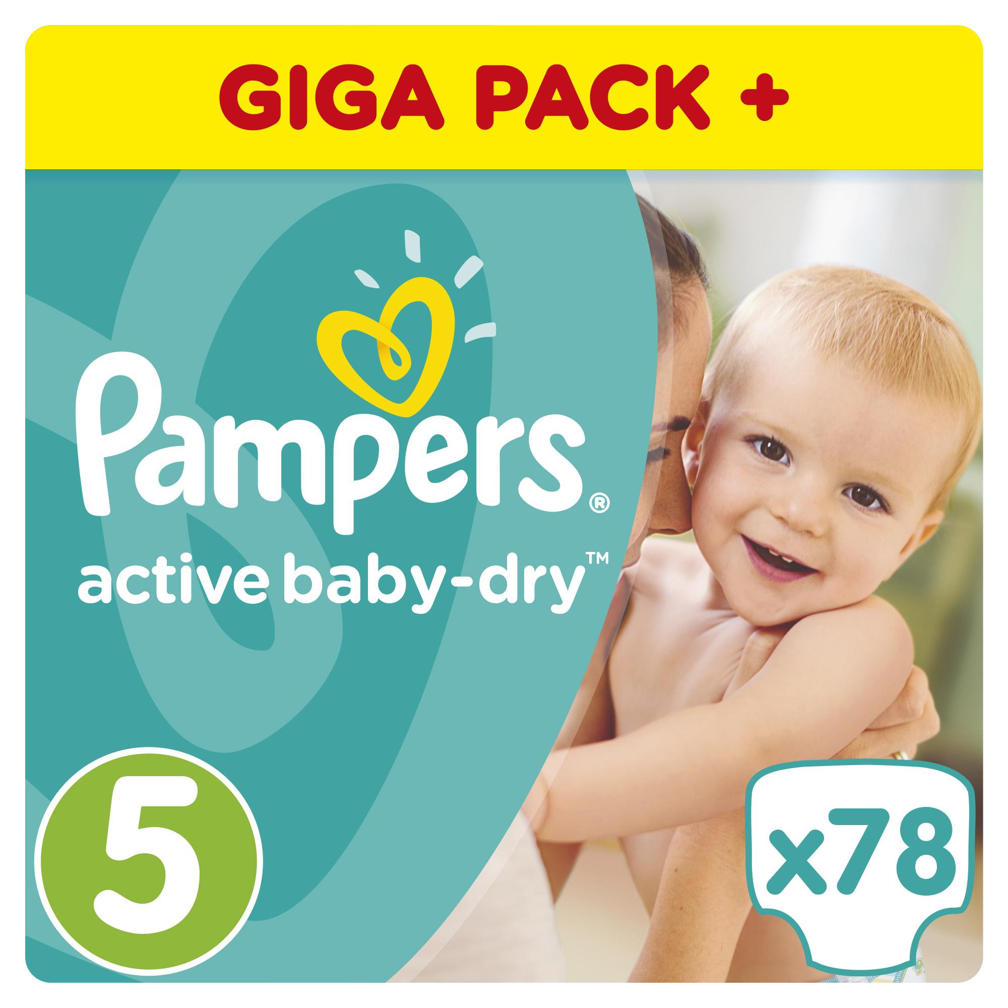 Подгузники Pampers Active Baby Junior 11-18 кг (78 шт) Размер 5<br>