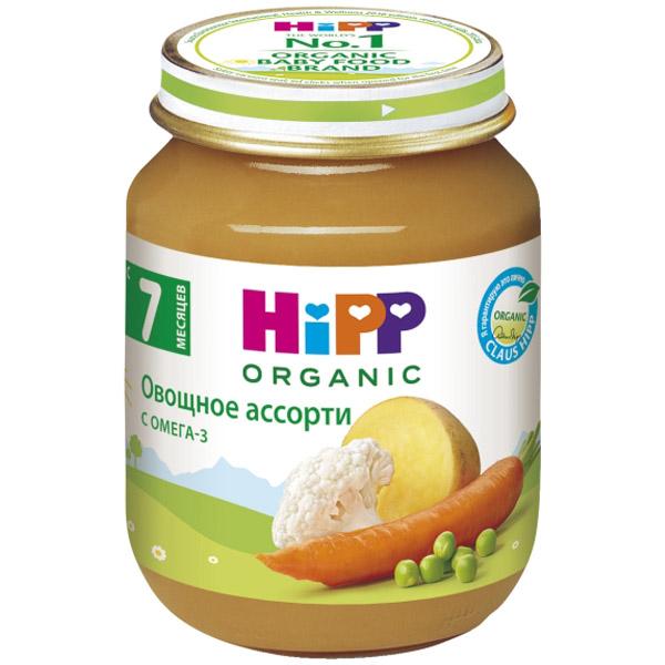 Пюре Hipp овощное 125 гр Овощное ассорти (с 7 мес)<br>