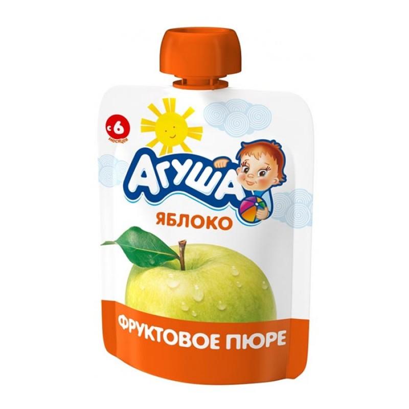 Пюре Агуша Я САМ фруктовое 90 гр Яблоко (с 6 мес)<br>