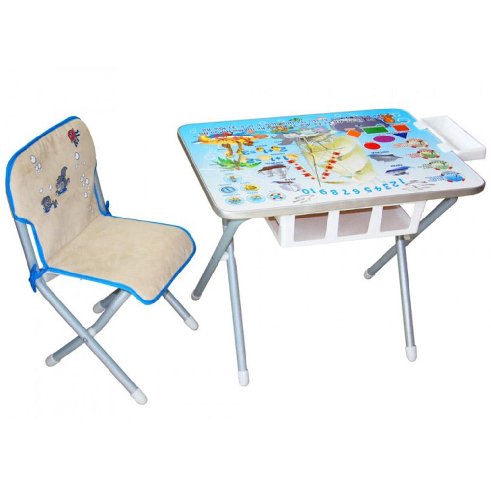 Набор мебели стол и стул Дэми №2 Кораблик Серебристый<br>