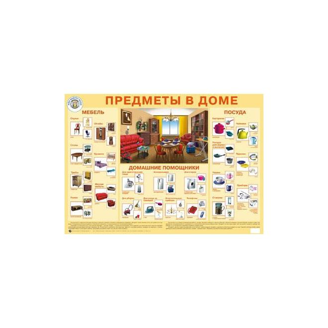 Плакат Маленький гений Предметы в доме<br>