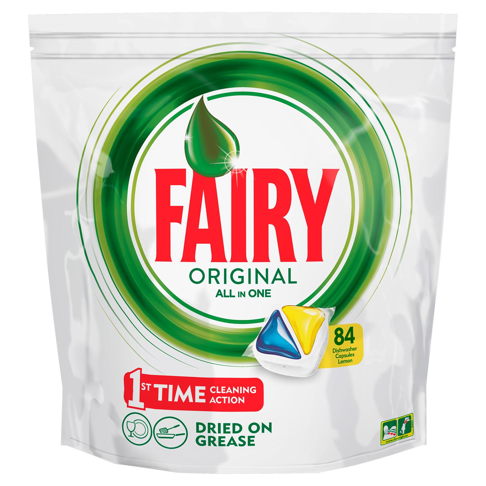 Капсулы для посудомоечной машины FAIRY Original All In One Лимон (84 шт)<br>