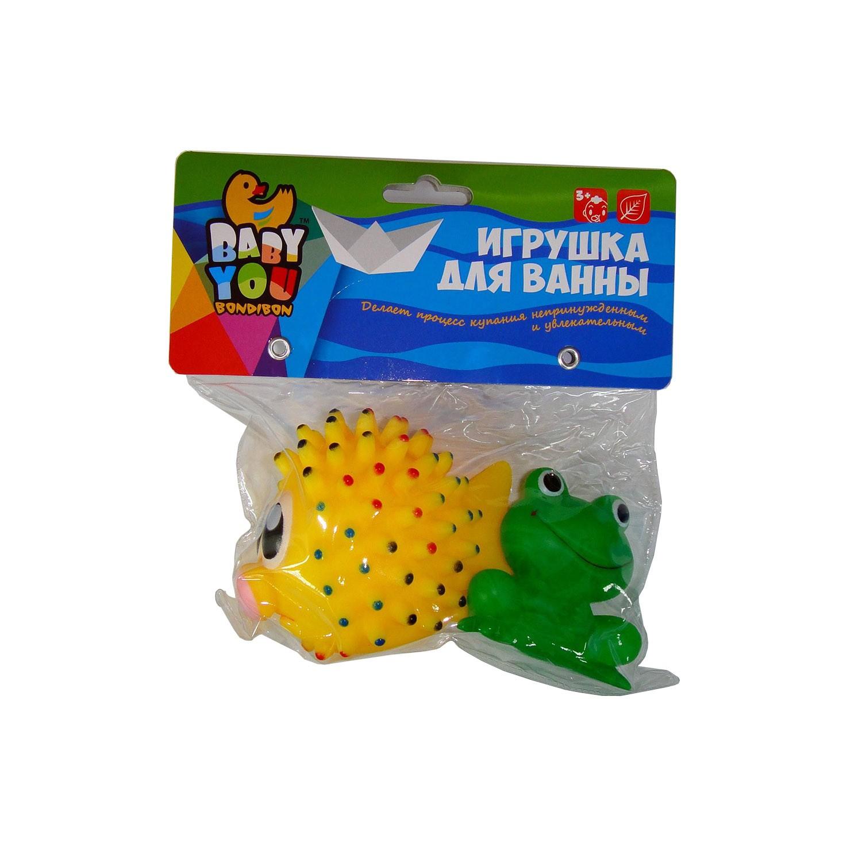 Игрушки для ванной Bondibon Морской ёж, Лягушка<br>