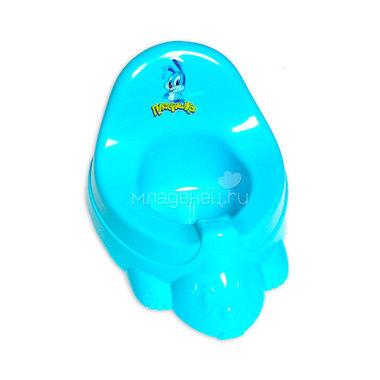 Горшок-игрушка Бытпласт Цвет - голубой