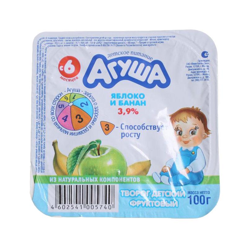 Творог Агуша 100 гр Яблоко банан 3,9% (с 6 мес)<br>