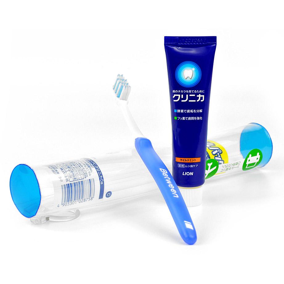 Дорожный набор Lion Зубная щетка + зубная паста туба 34 гр<br>