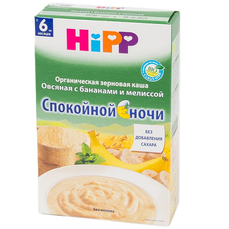 Каша Hipp безмолочная 200 гр Овсяная с бананами и мелиссой (с 6 мес)<br>