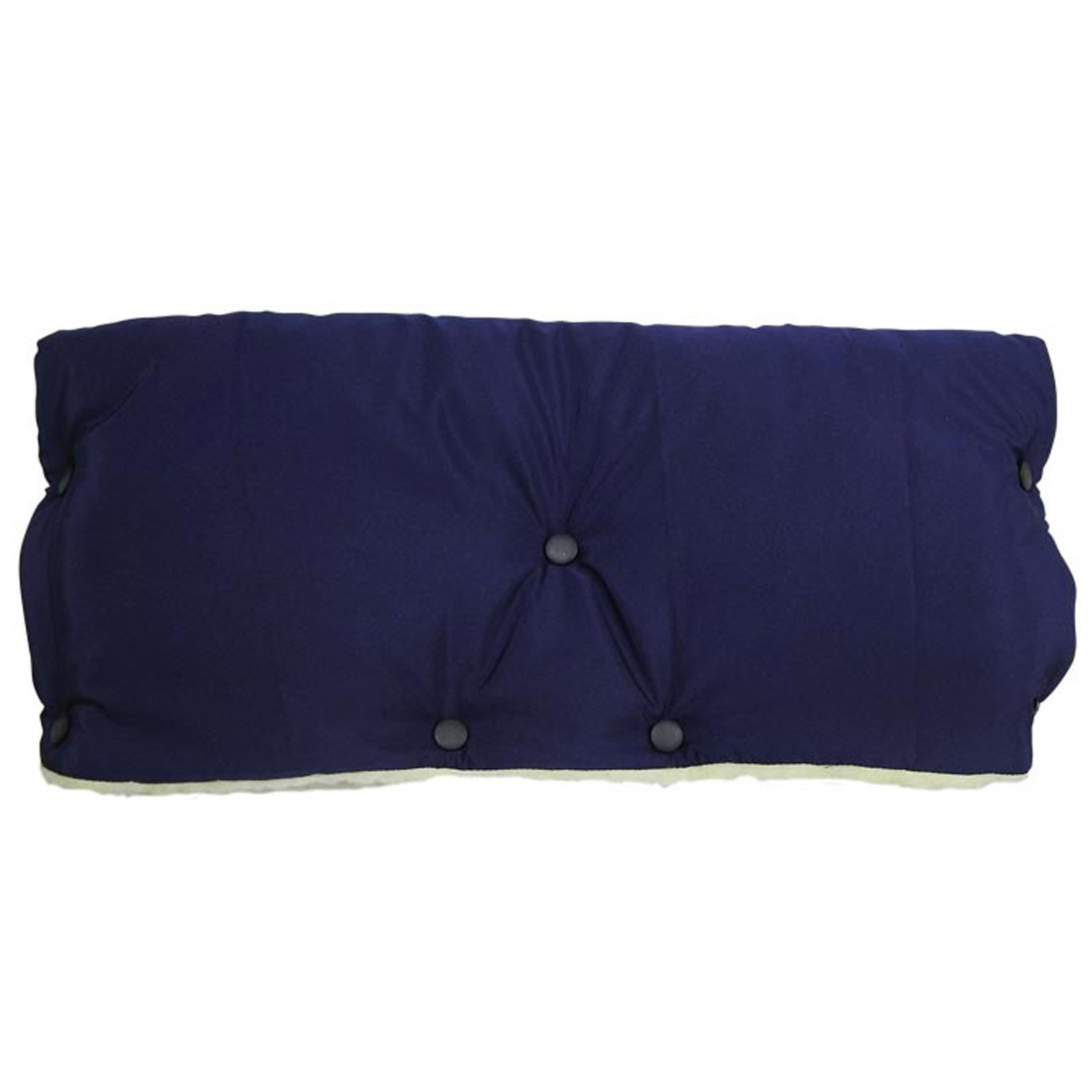 Муфта для коляски Чудо Чадо для защиты рук от холода на кнопках Синяя<br>