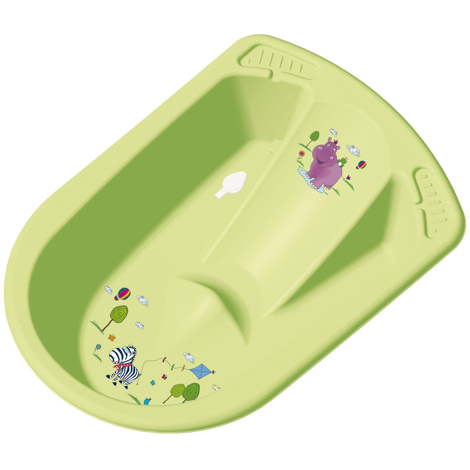 Ванна анатомическая ОКТHippo со сливом цвет - салатовый<br>