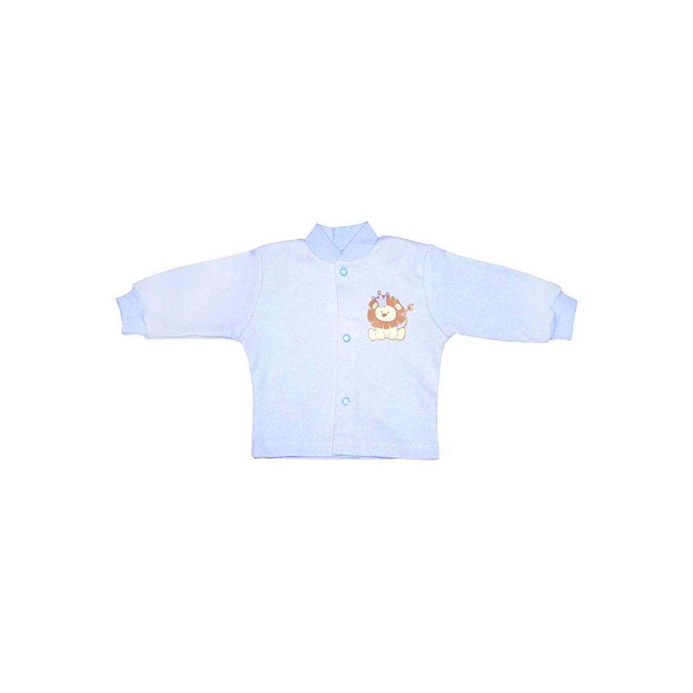 Кофточка КОТМАРКОТ для мальчика, цвет голубой 0-1 мес (размер 56)<br>